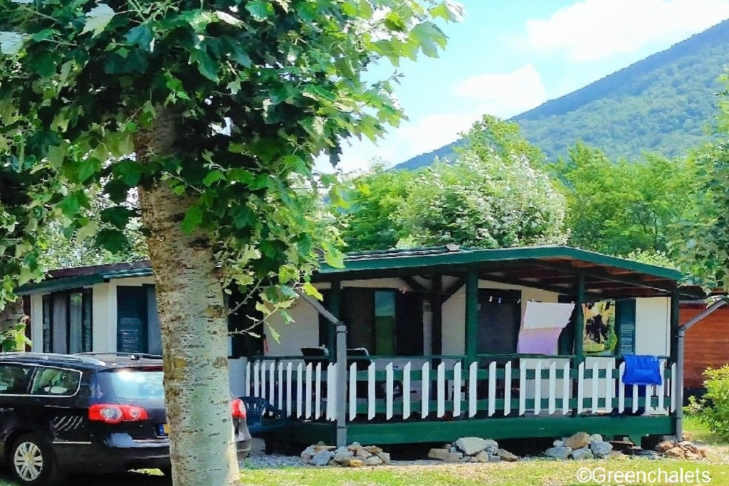 Greenchalets mobile home c porlezza camping international for Mobil chalet