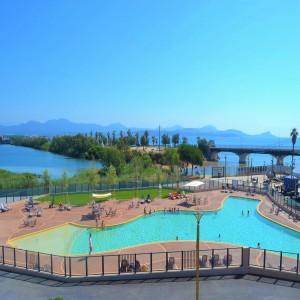 zwembad camping Saint Aygulf plage Cote d'Azur